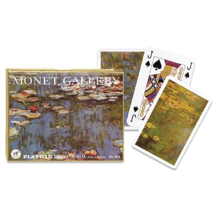 Piatnik Monet Gallery Lilies Bridge Set of 2 Packs of Playing Cards